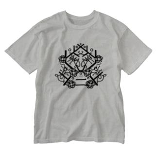 季節の紋章【二月】 Washed T-shirts