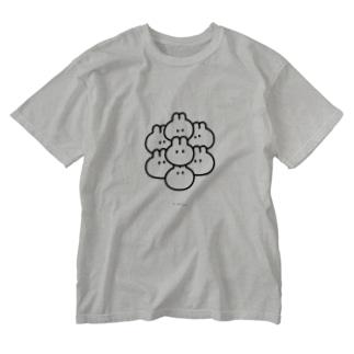 くっつきうさ! Washed T-shirts