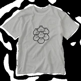 ▷            chiroruのくっつきうさ! Washed T-shirts