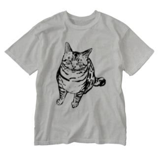 メシはまだか!? Washed T-shirts