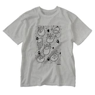 星とやるきないもの(大小おりまぜ) Washed T-shirts