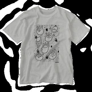 やるきないお店の星とやるきないもの(大小おりまぜ) Washed T-shirts