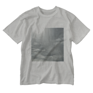 scents of eachの遠くに飛行機 Washed T-shirts