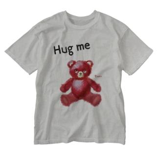 【Hug me】(赤くま) Washed T-shirts