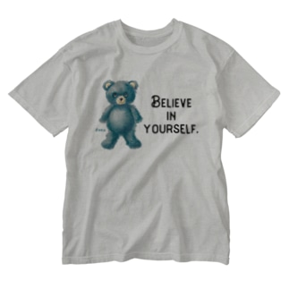 【Believe in yourself.】(青くま) Washed T-shirts