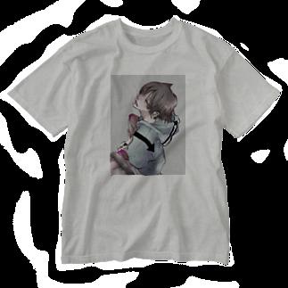 蒼杜吏の猫彼 Washed T-shirts