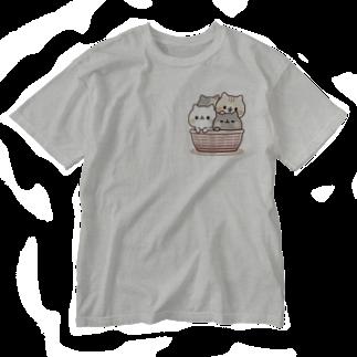 DECORのネコがいっぱい/カゴver. Washed T-shirts