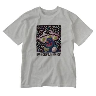 クダモノガリ Washed T-shirts