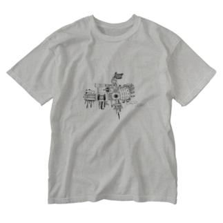 軍艦19RA号 Washed T-shirts