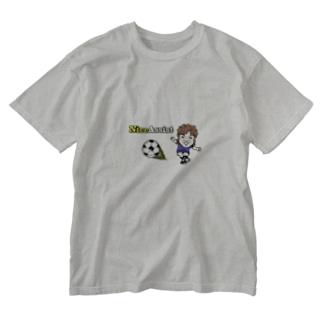 青ユニDEナイスアシスト Washed T-shirts