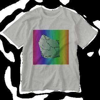 水草のMAPたん4 Washed T-shirts
