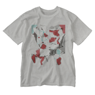 水草の金魚1 Washed T-shirts