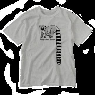 すとろべりーガムFactoryのワオキツネザル Washed T-shirts