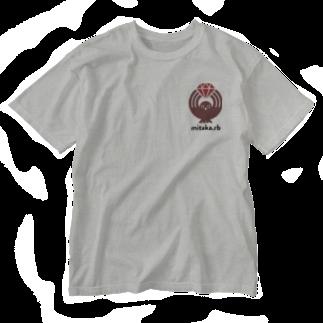 (\( ⁰⊖⁰)/) esaのmitaka.rb ワンポイント Washed T-shirts