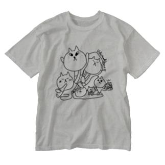 宇出津ねこ〜あばれ祭り〜 Washed T-shirts