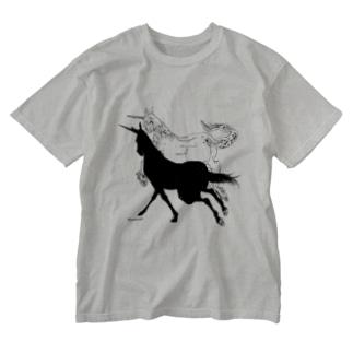 Monochrome Unicorn Washed T-shirts