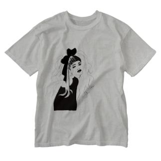 無敵りぼん Washed T-shirts