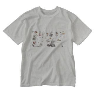 カピバラべぇかりぃとずんぐり〜ず2 Washed T-shirts