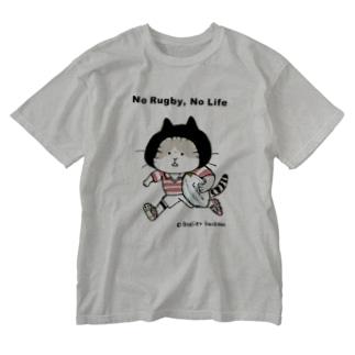 ラグビーねこ Washed T-shirts
