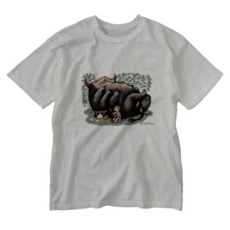 "Dark blanco ""Monster 1"" Washed T-shirts"