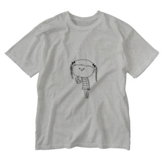 メロンソーダとみつあみーちゃん Washed T-shirts