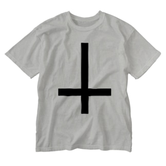 Inverted cross Washed T-shirts