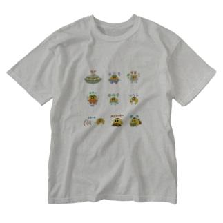 バリエ竹内ケザドリ Washed T-shirts