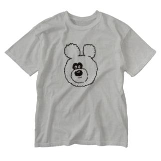 りのくまちゃんビッグフェイス Washed T-shirts