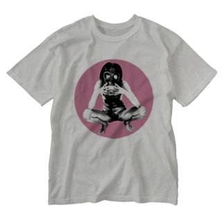 ガスマスク Washed T-shirts
