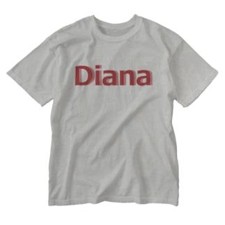 ダイアナ グッズ Washed T-shirts