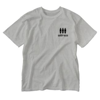 アドレス Washed T-shirts