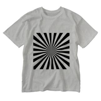 ストライプ?ボーダー?ストライプかボーダーかわからないデザイン Washed T-shirts