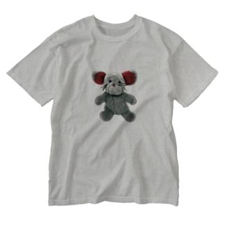 シンプル初日の出ちゃん Washed T-shirts