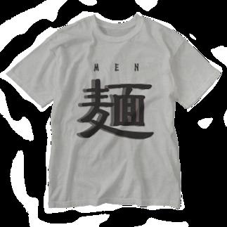 アメリカンベースの麺 MEN Washed T-shirts
