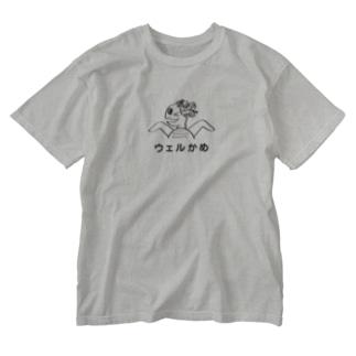 うぇるかめ Washed T-shirts