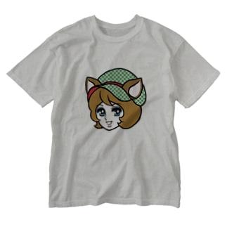 しかガール Washed T-shirts
