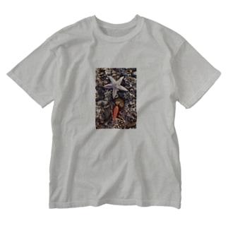 ヒトデ Washed T-shirts