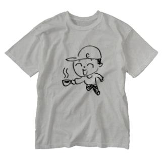 コヒ汲み坊や Washed T-shirts