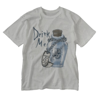 DrinkMeスカル2 Washed T-shirts
