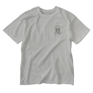開襟シャツの女の子 Washed T-shirts
