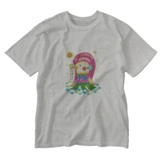 アマビエサマ Washed T-shirts