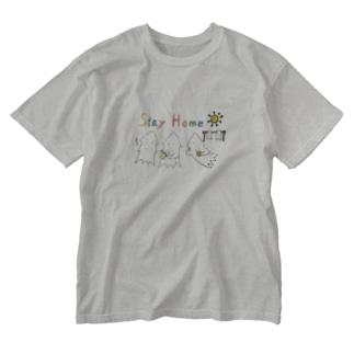 モンゴイカンパニー 販売部のSTAY HOME モンゴイカ Washed T-shirts