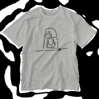 Aliviostaのショートボブガール 4 イラスト Washed T-shirts