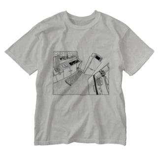 かもめC-Tシャツ Washed T-shirts
