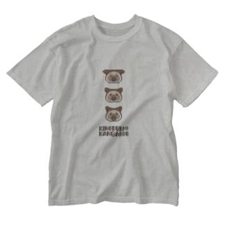 ピクセルキノボリカンガルー Washed T-shirts