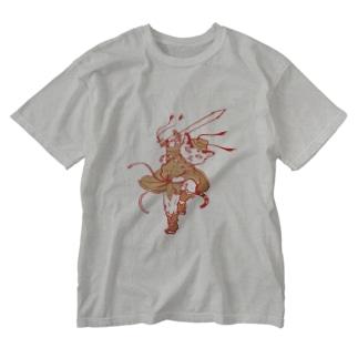 びわ鐘馗さま。 Washed T-shirts