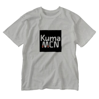 KumaMCNロゴ Washed T-shirts