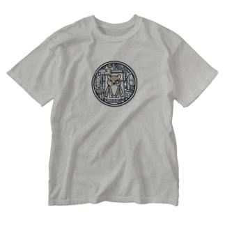 コックピット・柴犬(赤柴) Washed T-shirts