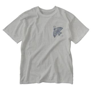 実運び鳥さん/青い鳥 Washed T-shirts