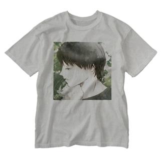 横顔と薔薇 Washed T-shirts